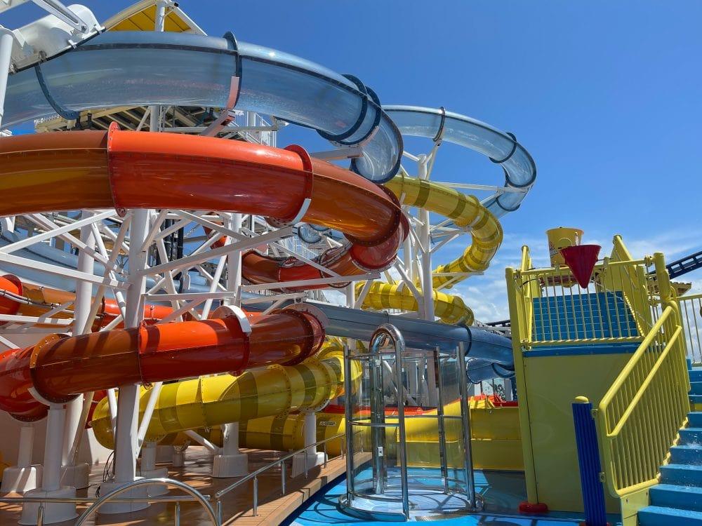 set of water slides