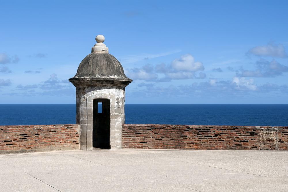 Tower at the Castillo de San Cristobal, in Old San Juan, Puerto Rico.