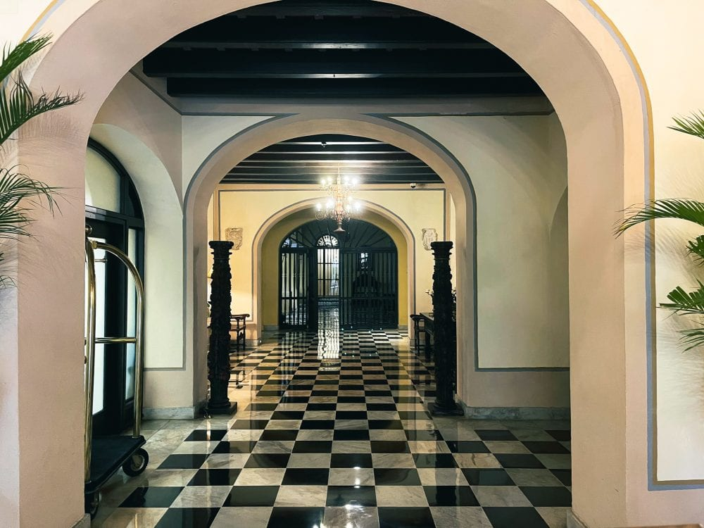 Entrance to the lobby at El Convento Hotel in San Juan, Puerto Rico