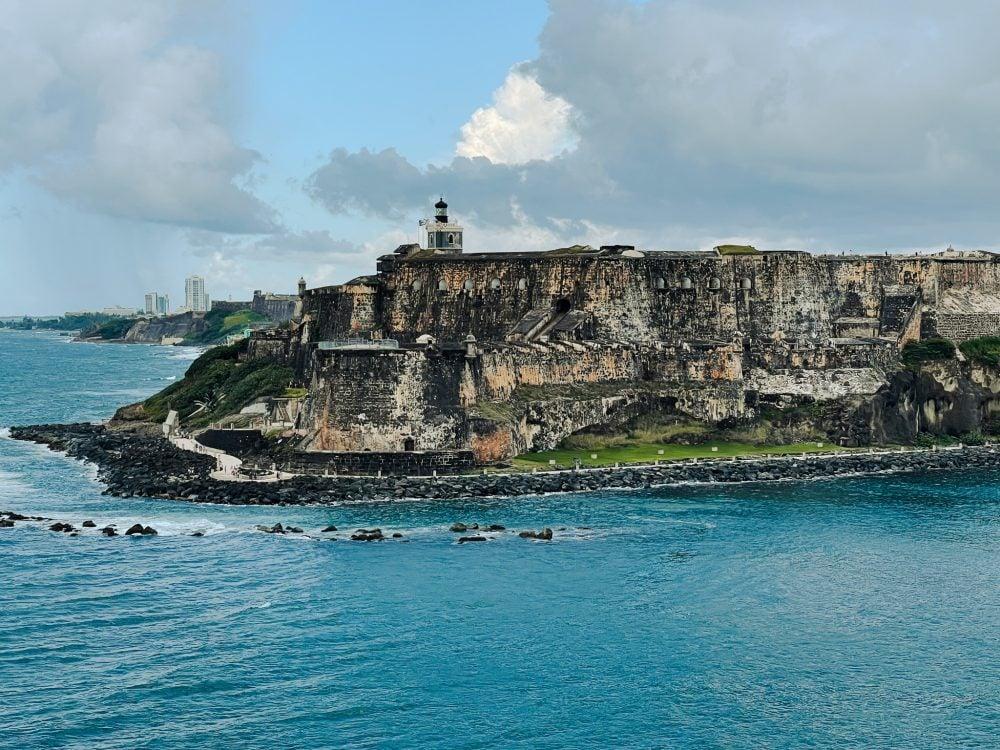 El Morro fort in San Juan Bay, Puerto Rico